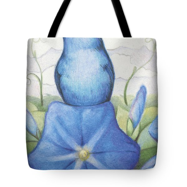 Blue On Blue Tote Bag by Amy S Turner
