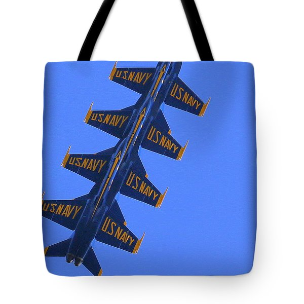 Tote Bag featuring the photograph Blue On Blue by John King