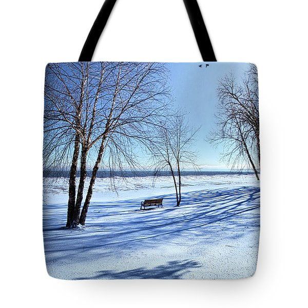 Tote Bag featuring the photograph Blue On Blue by Phil Koch
