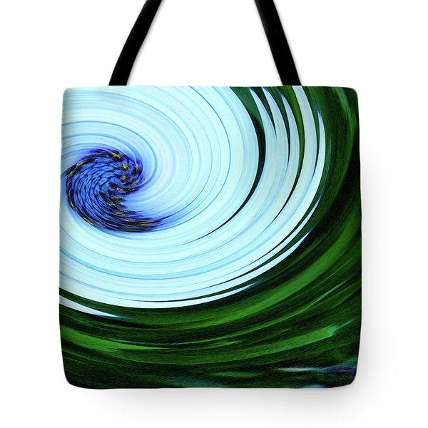 Blue On Flower Tote Bag
