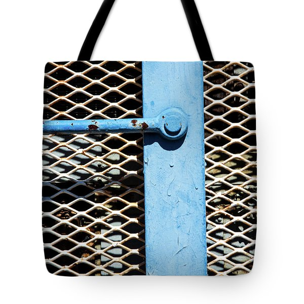 Tote Bag featuring the photograph Blue On White by Karol Livote