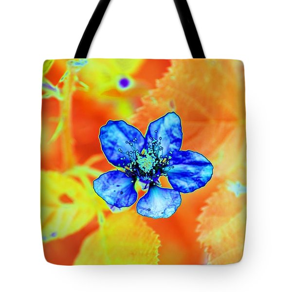 Blue On Yellow Tote Bag