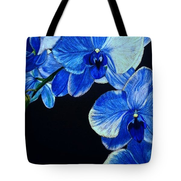 Blue Orchid - Electric-blue Phalaenopsis Tote Bag
