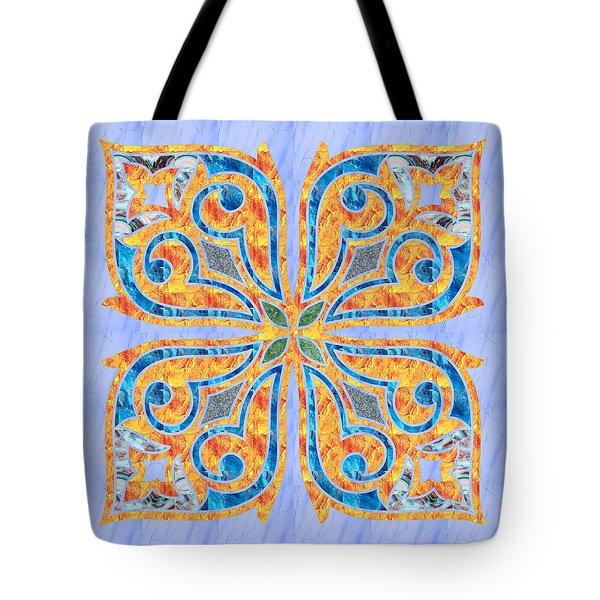 Blue Oriental Tile 02 Tote Bag