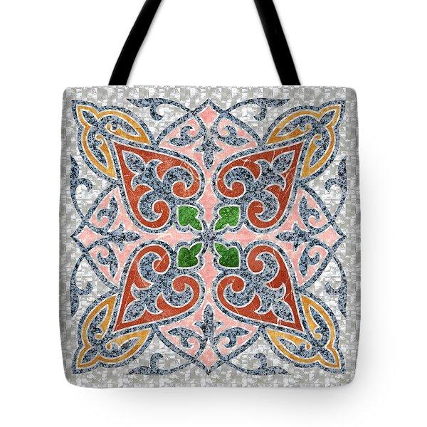 Blue Oriental Tile 03 Tote Bag