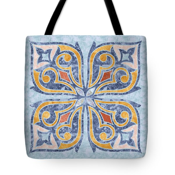 Blue Oriental Tile 04 Tote Bag