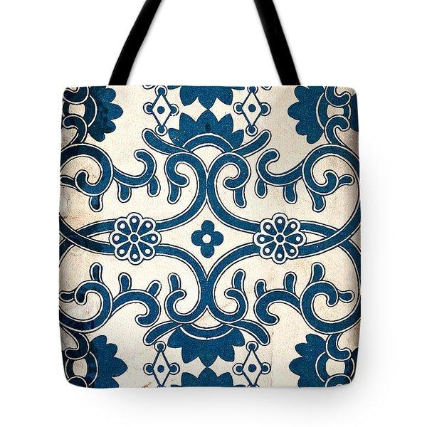 Blue Oriental Vintage Tile 02 Tote Bag