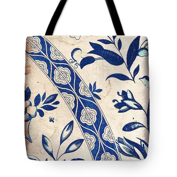 Blue Oriental Vintage Tile 04 Tote Bag