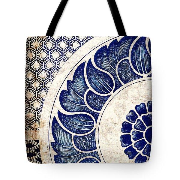 Blue Oriental Vintage Tile 05 Tote Bag