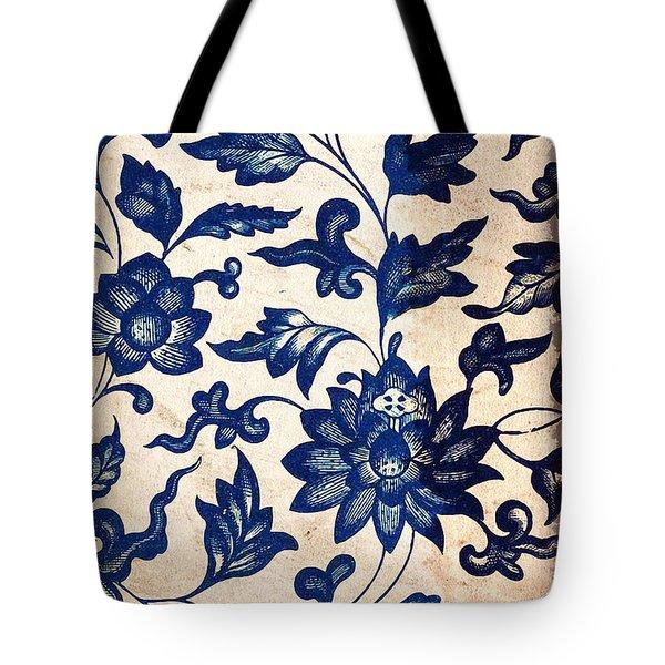 Blue Oriental Vintage Tile 06 Tote Bag