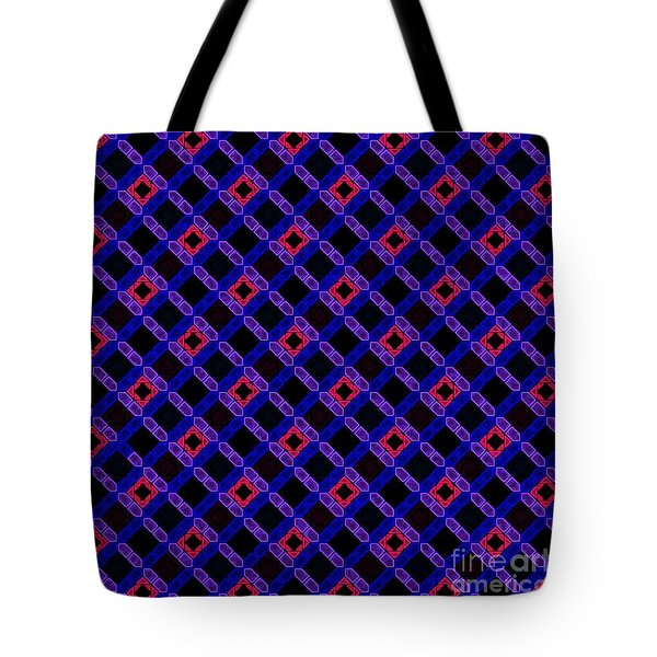 Blue Overlay Tote Bag
