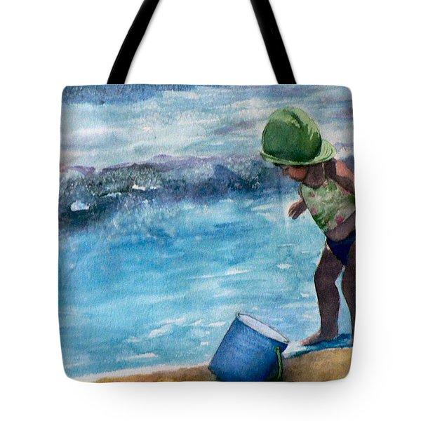 Blue Pail Tote Bag