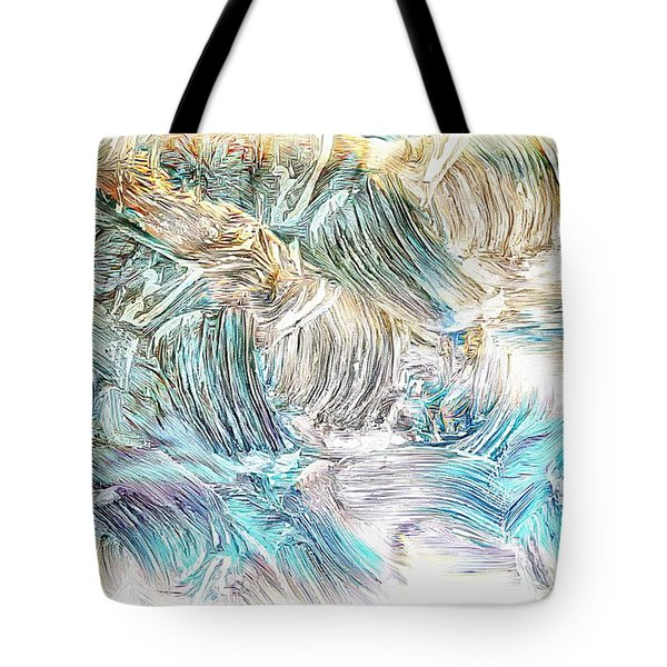 Tote Bag featuring the photograph Blue Palette by Athala Carole Bruckner