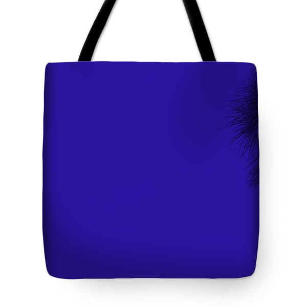 Blue Palm Tote Bag