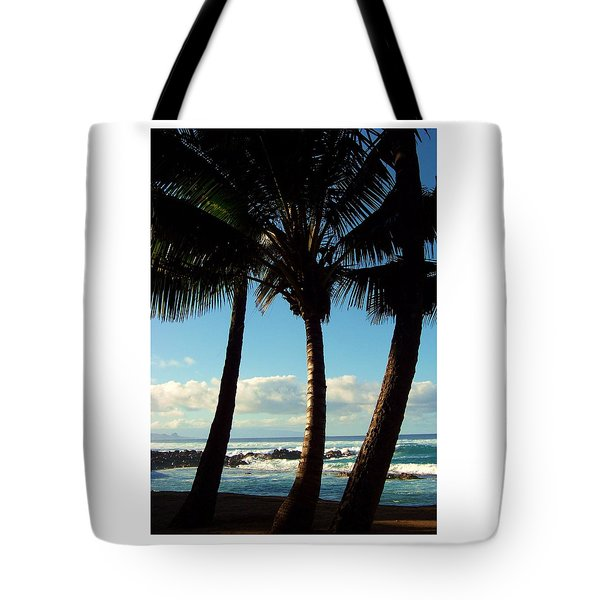 Blue Palms Tote Bag by Karen Wiles