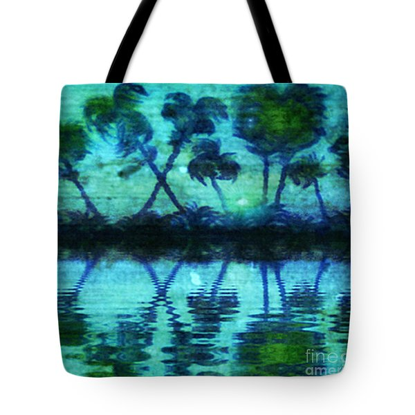 Tote Bag featuring the painting Blue Paradise by Holly Martinson