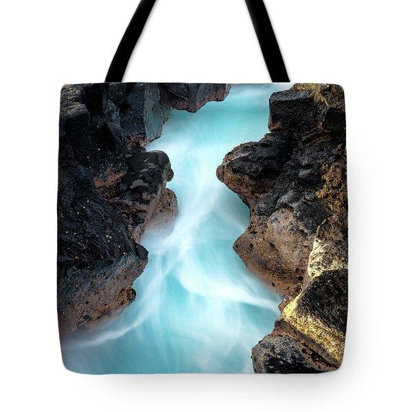 Blue Path Tote Bag