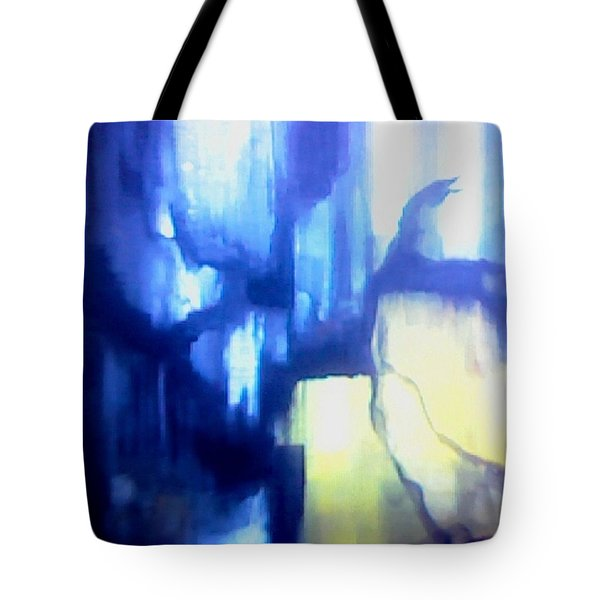 Blue Patterns Tote Bag