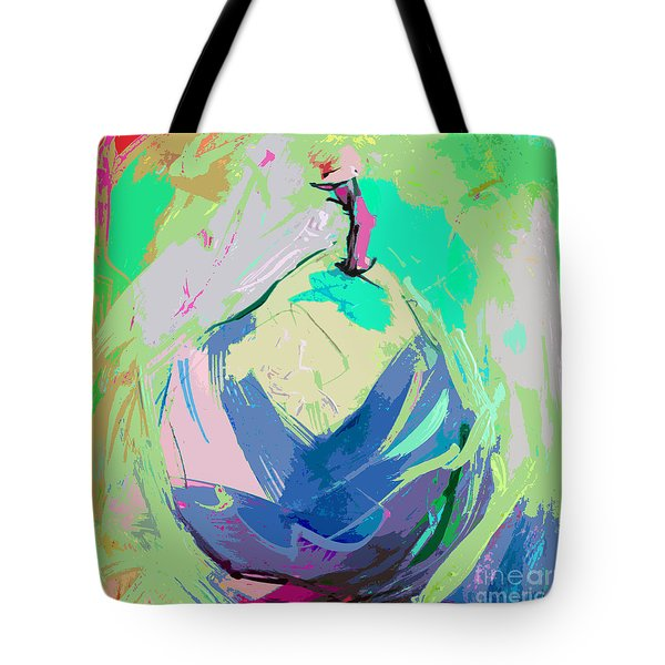 Blue Pear Tote Bag