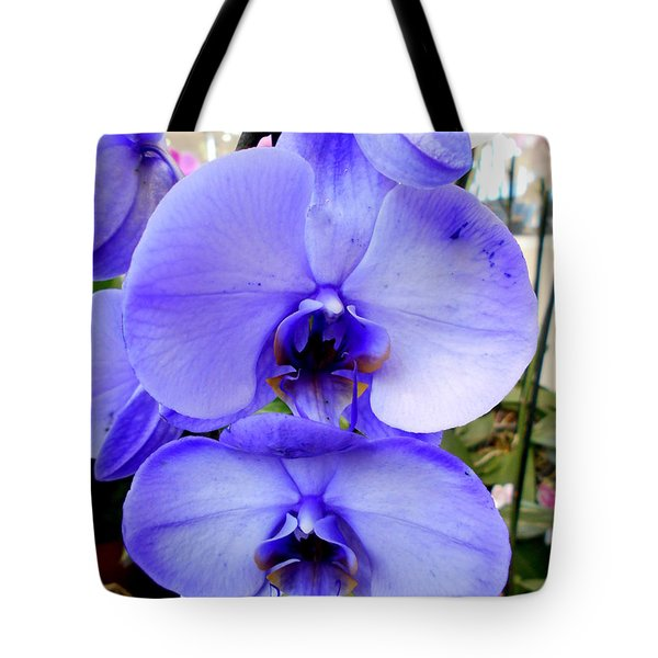 Blue Phalaenopsis Orchid Tote Bag