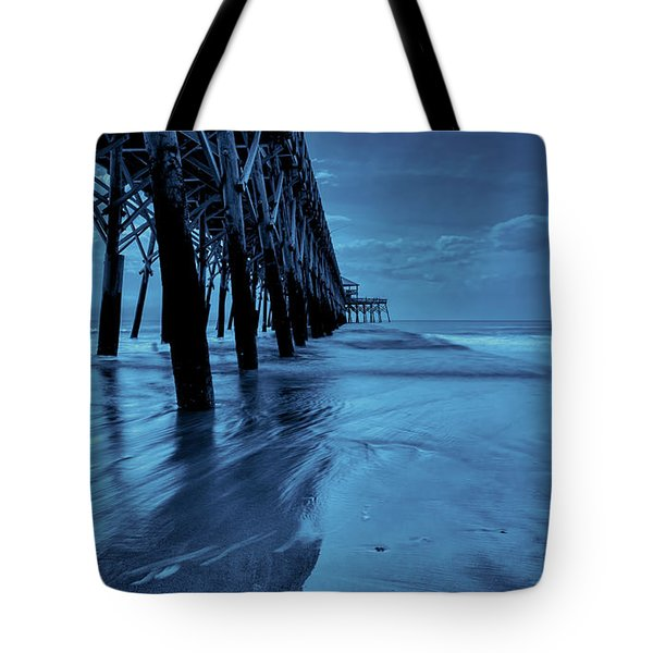 Tote Bag featuring the photograph Blue Pier by RC Pics