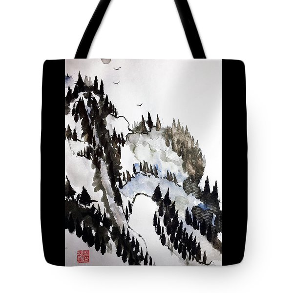 Blue Pine Ridge Tote Bag