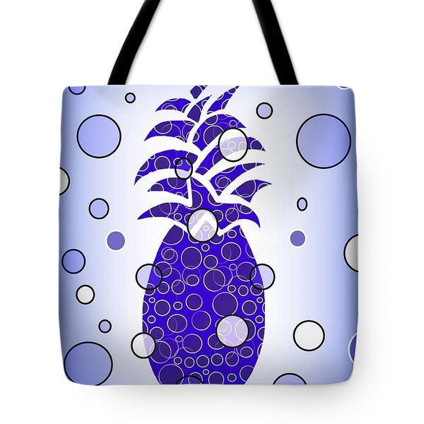 Blue Pineapple Tote Bag by Kathleen Sartoris