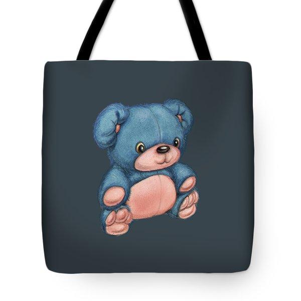 Blue Pink Bear Tote Bag