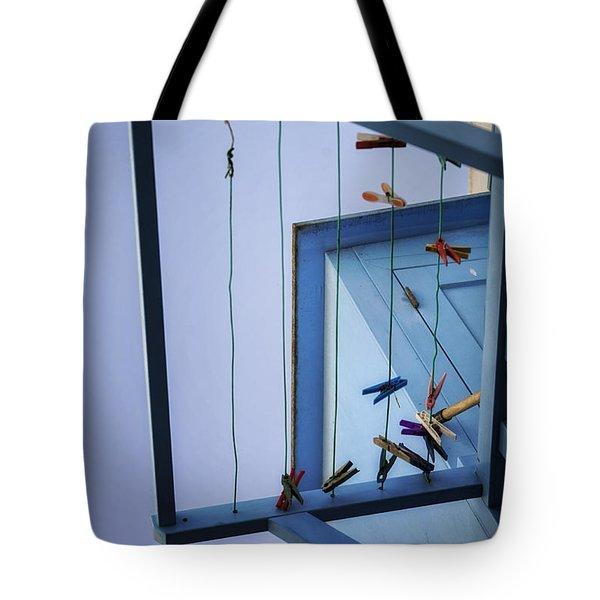 Blue Pins Tote Bag