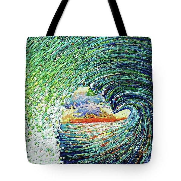 Blue Pipeline Tote Bag by Gayle Utter