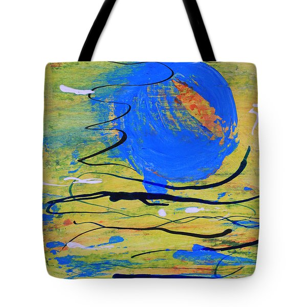 Blue Planet Abstract Tote Bag