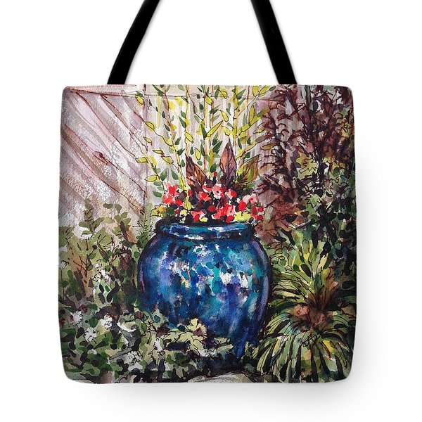 Blue Planter Tote Bag