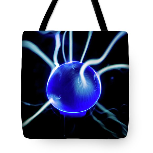 Tote Bag featuring the photograph Blue Plasma by Tyson Kinnison