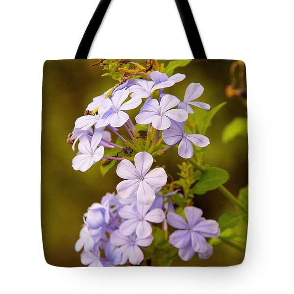 Tote Bag featuring the photograph Blue Plumbago Flowers by John Black