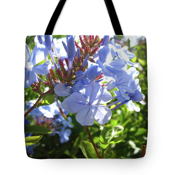 Tote Bag featuring the photograph Blue Plumbago by Mary Ellen Frazee