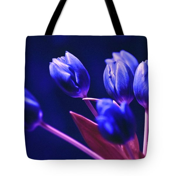 Tote Bag featuring the photograph Blue Poetry by Silva Wischeropp