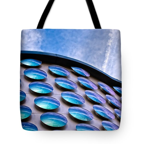 Blue Polka-dot Wave Tote Bag