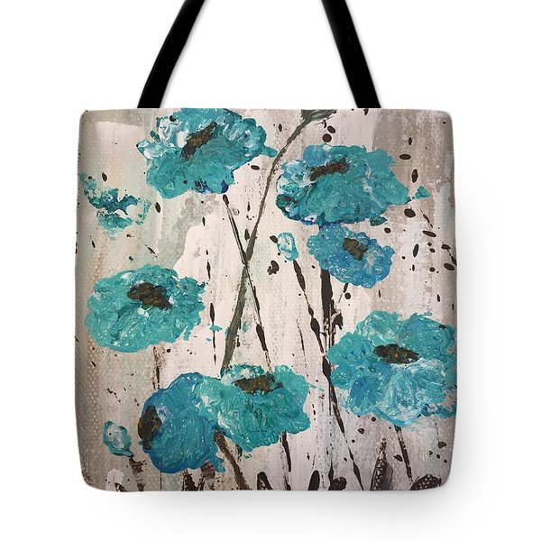 Blue Poppies Tote Bag by Lucia Grilletto