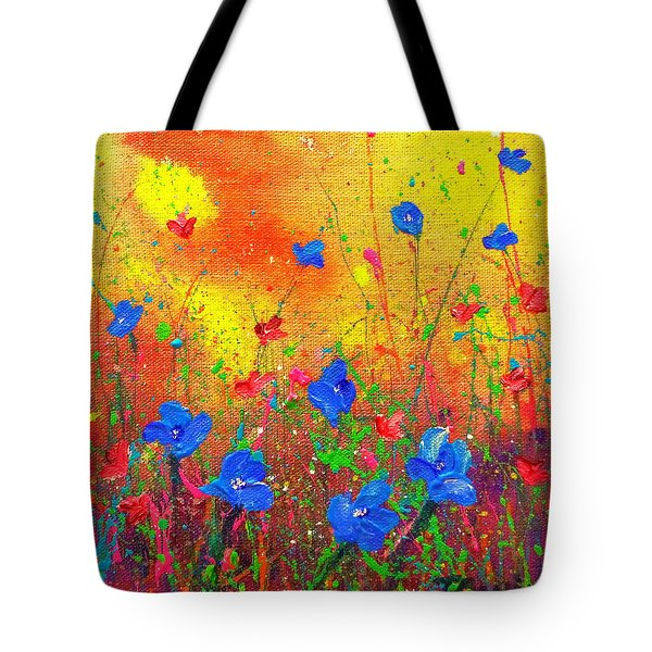 Blue Posies II Tote Bag