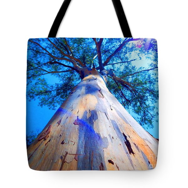 Blue Power Sky Tote Bag