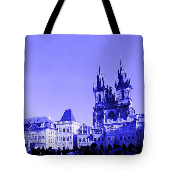 Blue Praha Tote Bag
