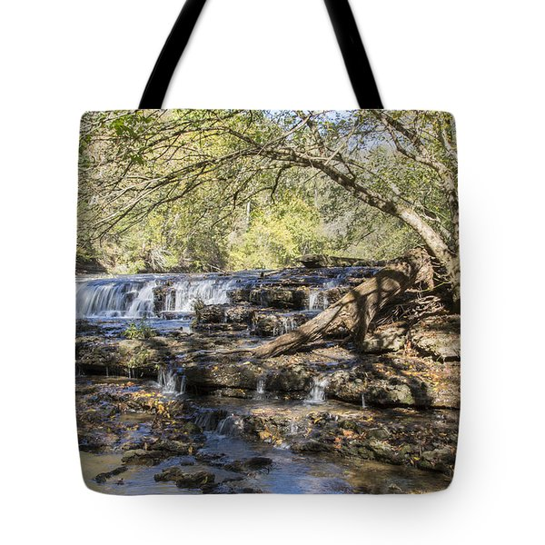 Blue Puddle Falls Tote Bag