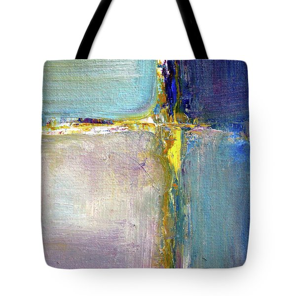 Tote Bag featuring the painting Blue Quarters by Nancy Merkle