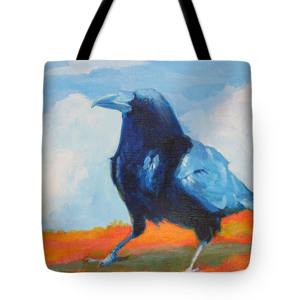 Blue Raven Tote Bag