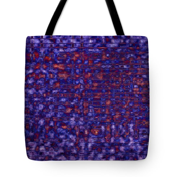 Blue Red Purples Tote Bag