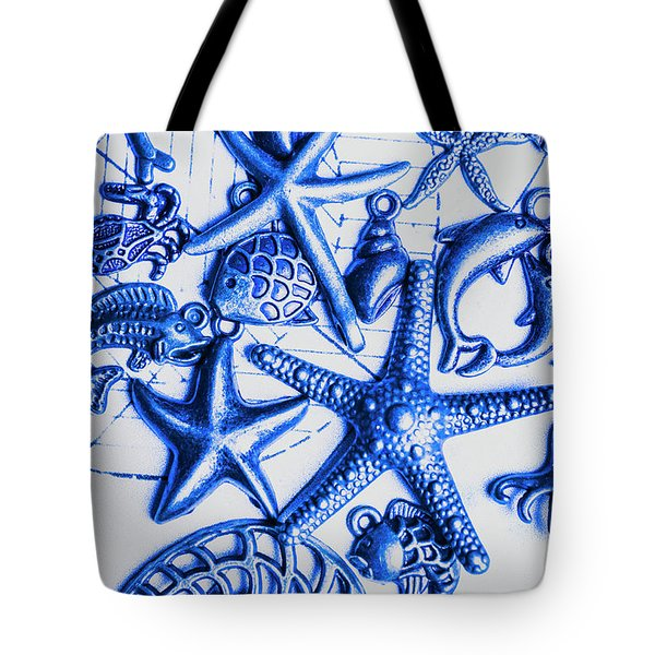 Blue Reef Abstract Tote Bag