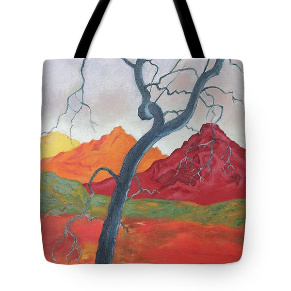 Blue Retama Tote Bag