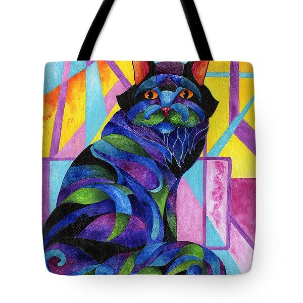 Blue Rhapsody Tote Bag by Sherry Shipley