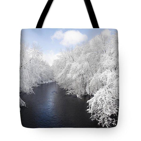 Blue Ribbon River Tote Bag