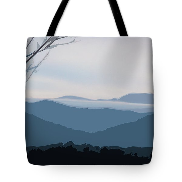Blue Ridge Above The Clouds Tote Bag